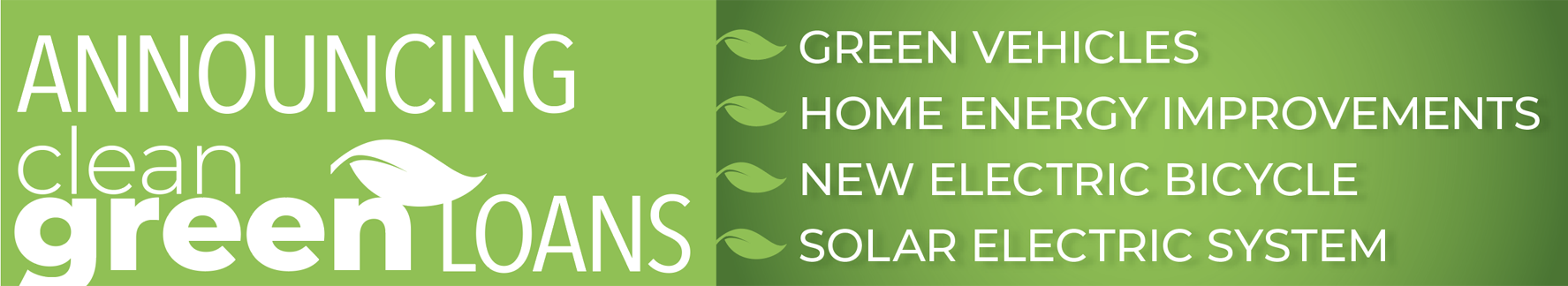 Announcing Clean Green Loans