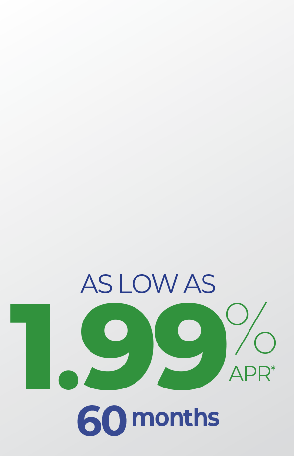 1.99% auto loans for 60 months.