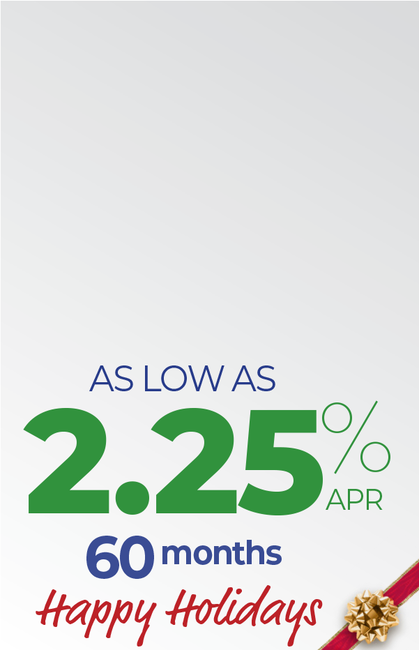 Auto Loans as low as 2.25 percent APR