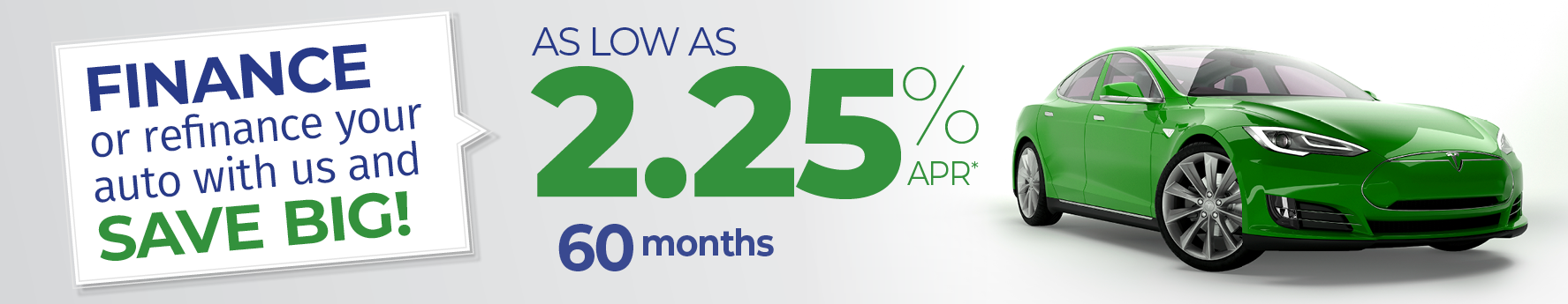 2.25% auto loans for 60 months